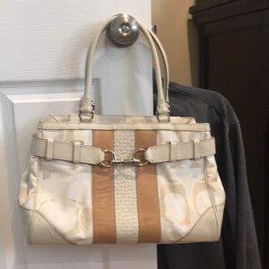 Coach Optic White Handbag